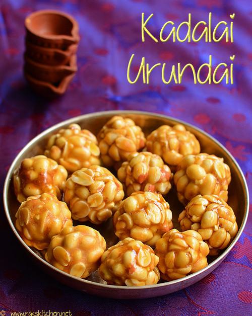 கடலை உருண்டை, kadalai urundai recipe in tamil