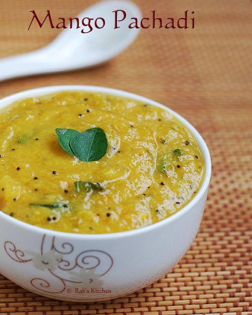 மாங்காய் பச்சடி, mango pachadi tamil