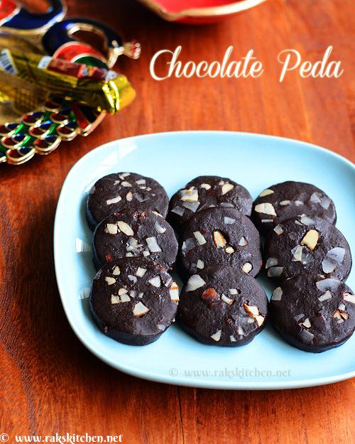 சாக்லேட்  பேடா, chocolate peda